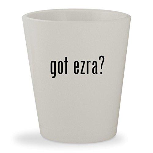 got ezra? - White Ceramic 1.5oz Shot Glass