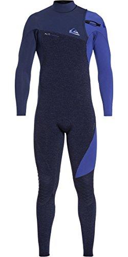 Quiksilver Mens 4-3mm Highline Series Zipless GBS Wetsuit X Large Navy Heather Navy