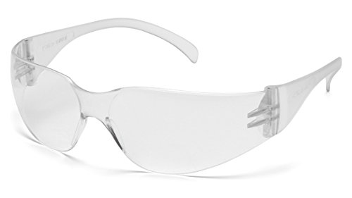Pyramex Intruder Safety Eyewear, Clear Frame, Clear-Uncoated - Dollars Sunglasses