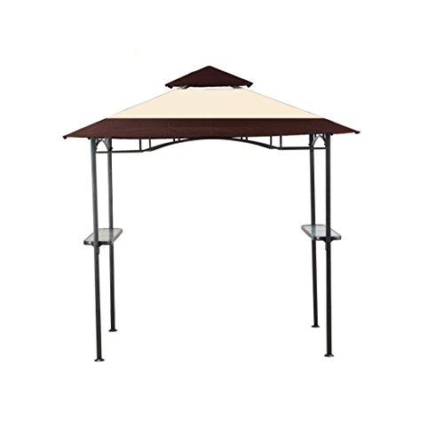 Solar Sanctuaries Outdoor Solar Powered Grill Gazebo Canopy