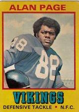 Minnesota Vikings Legends - 1974 Topps Wonder Bread All-star Series Alan Page #17 Minnesota Vikings Legend Football Card
