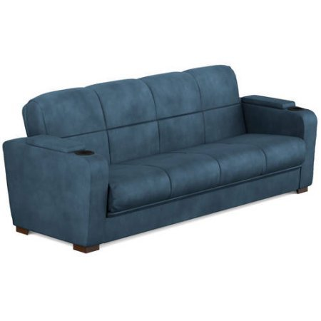 Tyler Microfiber Storage Arm Convert A Couch Sofa Sleeper