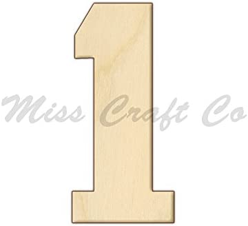 Amazon Com College Number 1 Wood Shape Cutout Wood Craft Shape