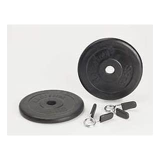 Ab Coaster 5lb Standard 1 inch Diameter Weight Set with Spring Collar (Set of 2) - 5lb weghts and Clips