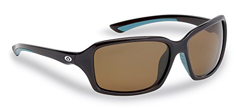 Flying Fisherman Kili Polarized Sunglasses, Brown Frame/Amber Lens