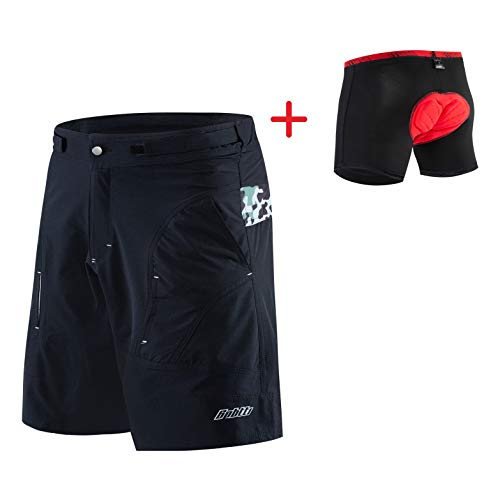 Bpbtti Men's Mountain Bike Shorts 3D Padded MTB Cycling Shorts-The Enduro Baggy Shorts
