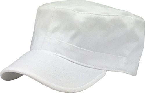 KBK-1464 WHT XL Cadet Army Cap Basic Everyday Military Style Hat ()