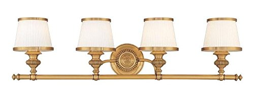 Flemish Brass Four Light Wall Sconce from the Milton Collection