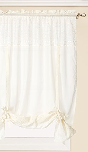 United Curtain VIENTIENT Vienna Window Curtain Topper, 40 X 63 , Natural