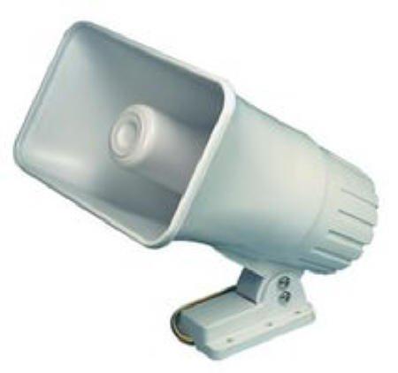 ELK Products 30 Watt Siren Dual Tone Indoor/Outdoor Siren 6-12VDC 1.1Ah 120db 6 X 8 X 9.5 Inch