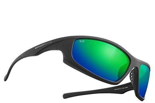 Shady Rays Polarized Sport Sunglasses X Series, Black, Emerald