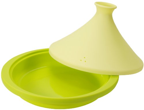 CB Japan 7.8inchs Leaf Green Silicon Tagine Pot (with Recipes) 2 7.8inchs Leaf Green Silicon Tagine Pot (With Recipes) Height 6.2 in. Depth 8.8 Ã- 9.7 Ã- width(Height 1.9 inches when folded the lid)