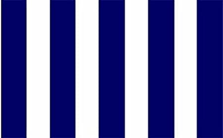 Flag 150cm x 90cm Rochdale Blue And White Striped 5ft x 3ft