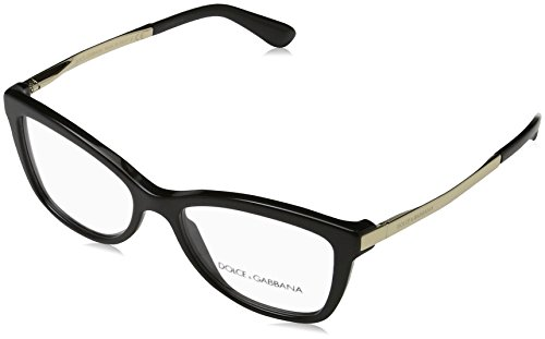 Dolce and Gabbana Eyeglasses DG 3218 501 Black 52mm
