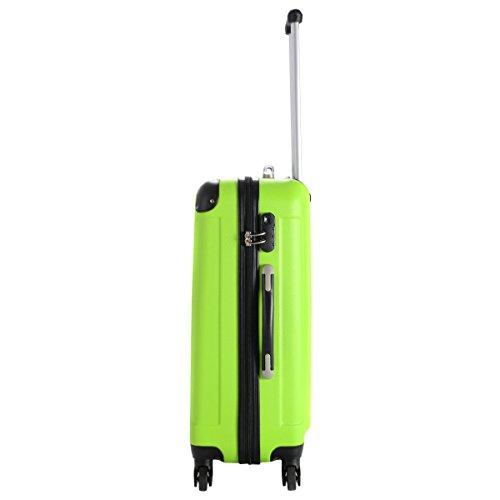 Goplus 3 Pcs Luggage Set Hardside Travel Rolling Suitcase ABS Globalway (Green) by Goplus (Image #3)