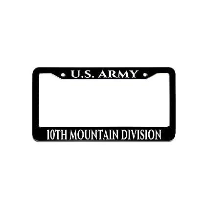 Amazon.com: Hensonata U.S. Army 10th Mountain Division Car License ...