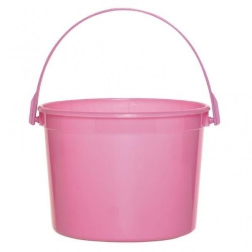 Candy Buffet/Easter Spring Theme Pink Plastic Buckets x 6 (Pink Easter Spring)