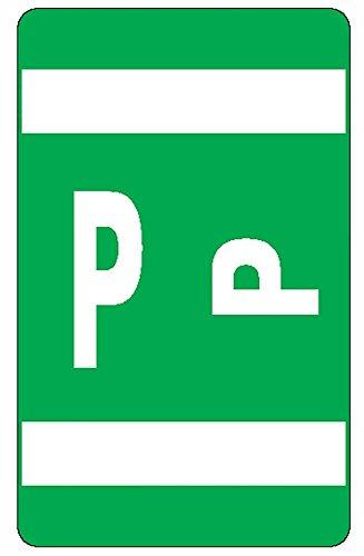 Smead Alpha-Z Color-Coded Second Letter Labels, Letter P, Da