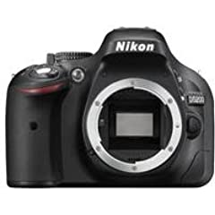 Nikon D5200 24.1 MP Digital SLR Camera Body Only  Black , Memory Card and Carry Case