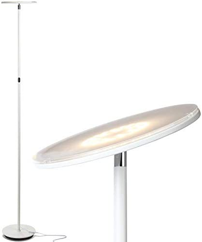 Brightech Sky Led Torchiere Super Bright Floor Lamp Contemporary High Lumen Light For Living