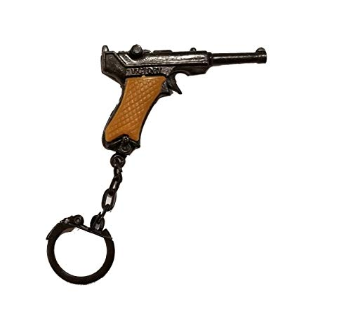 (Aryellys Miniature Antique Gun Keychain Backpack Clip (WWII Luger Style))