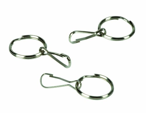 HealthSmart Zipper Ring Pulls Zipper Tabs For Clothing, Zipper Assist, 3 Count, 1 Inch Diameter by HealthSmart