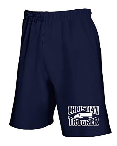 shirtshock Trucker Christian Blu Pantaloncini T Fun1005 Tuta Navy SqH4d0