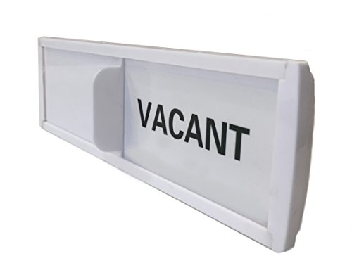 White Privacy Sign for Offices or Homes (Vacant Sign, Occupied Sign) - For Rooms that are Vacant or Occupied by SMACD