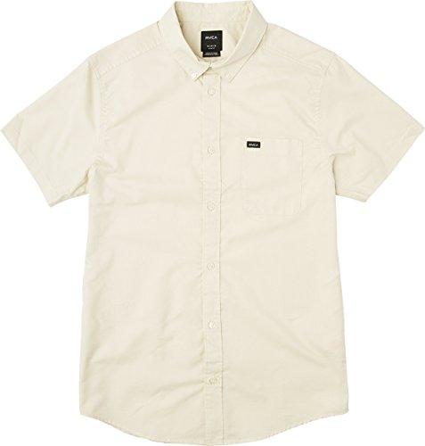 RVCA Men's Thatll DO Oxford Short Sleeve Woven Shirt, Sunwash, (Button Up Woven Sport Shirt)