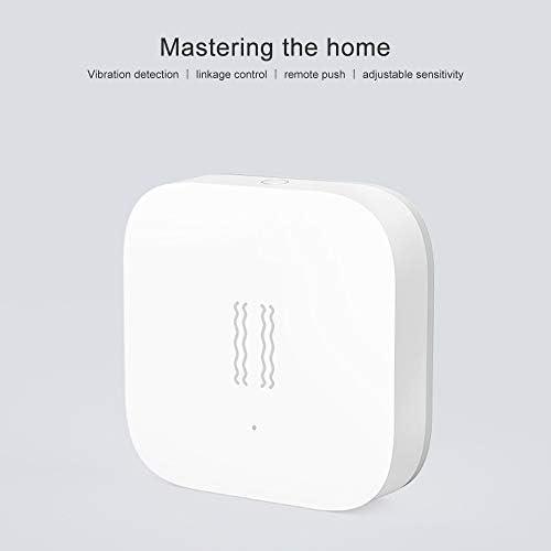 Hongtianyuan para Aqara Sensor De Vibraci/ón,Incorporado En El Sensor De Movimiento,Alarma con Sensor De Vibracion para La Seguridad En El Hogar Inteligente Trabaja con Mijia App y Homekit.