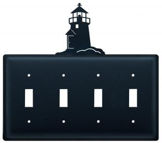 Lighthouse Iron Switchplate (8.25 Inch Lighthouse Quadruple Switch Cover)