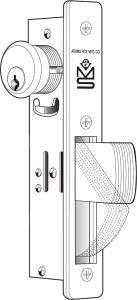 - Adams Rite MS1850S-410 Deadbolt For Aluminum Stile Doors (1-1/2