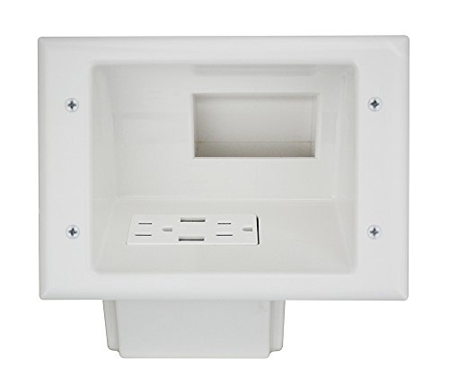 Datacomm Electronics Recessed Receptacle 45 0271 WH product image