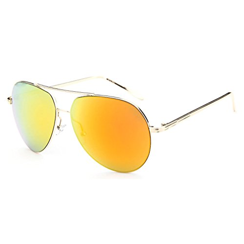 My.Monkey 2016 New Womens Fashion Reflective lens Big Frame Wayfarer - Bono Brand Sunglasses