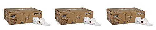 Tork Universal TM1602 Bath Tissue Roll, 2-Ply, 4'' Width x 3.75'' Length, White (Case of 48 Rolls, 420 per roll, 20,160 Sheets) (3-(Case of 48 Rolls))