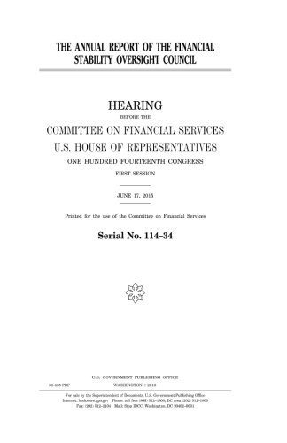 The annual report of the Financial Stability Oversight Council pdf epub