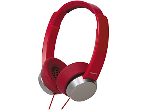 Panasonic RP-HXD3W-R Street Style Monitor Headphones, Red/Silver (Discontinued by Manufacturer)