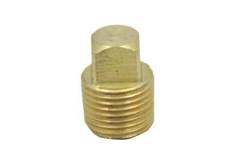 Generic Brass Pipe Solid Square Head Plug Fittings 1/8