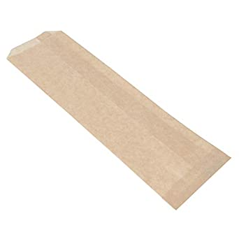 Amazon.com: Bolsa desechable de papel Kraft de 10 x 2-3/4 ...