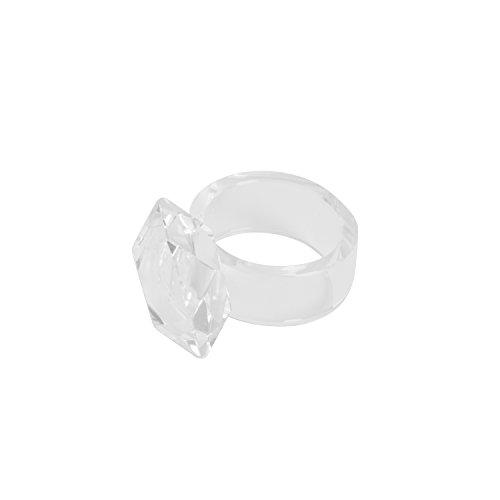 SARO LIFESTYLE NR110.C Crystal Napkin Rings (4 Pack), Clear 4 Crystal Napkin Rings