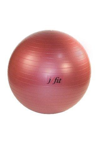 J/fit 45cm Anti-Burst Gym Ball (Ruby ROT) by j/fit