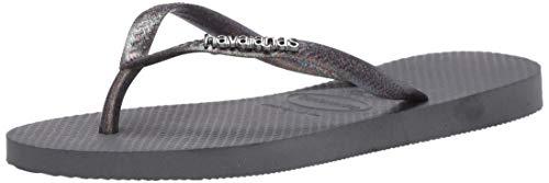 Havaianas Women's Slim Logo Metallic Flip Flop Sandal