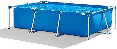 LJJLJJ Frame Pool Piscina Desmontable Tubular 260 X 160 X 65 Cm, Piscina Sobresuelo(2282L), Malla Compuesta De 3 Capas, Montaje RáPido, Piscina para NiñOs Y Adultos - Azul
