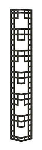 壁飾り 外壁 ウォールアクセサリー 亜鉛鋼板(焼付塗装) シャドーピクチャー コーナータイプ デザインC 取付ピン付属 B0793QS4B2