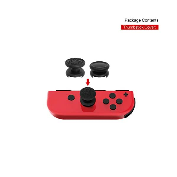 Nintendo Switch Accessories Bundle, Playstand, Joy con Charging Dock, TPU Protective Case, 2 Pair Thumb Grips and Charging Cable. 6