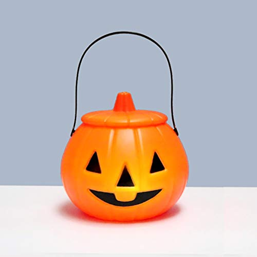 (Minions Boutique Halloween Pumpkin Light Lantern Toy Candy Holder Trick-or-Treat Halloween Candy Bucket Prank Tool Decor)