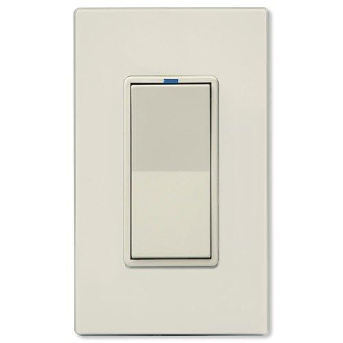 PCS PulseWorx UPB Auxiliary Remote Dimmer Wall Switch, Light Almond (RWS-LA)