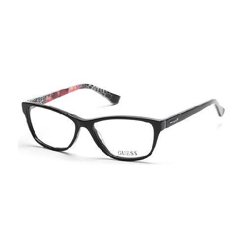 Guess Women's Eyeglasses GU2513 GU/2513 005 Black/Multi Full Rim Optical Frame