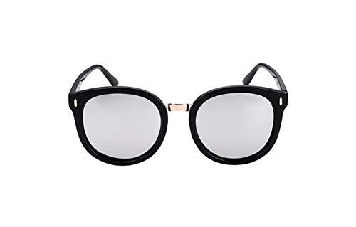 De Protección Gafas De Polarizado Redonda De Gafas Tabletas Sol Conducción Cuadro De Espejo liwenjun Negro Mercurio Retro UV Cara Sol Marea Gafas Polarizadas 765CxAqwx