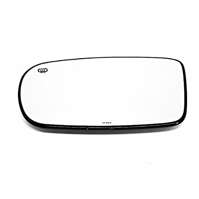 Fits DG Charger/Chry 200/300 Left Driver Mirror Glass w/Heat Back Plate OE: Automotive